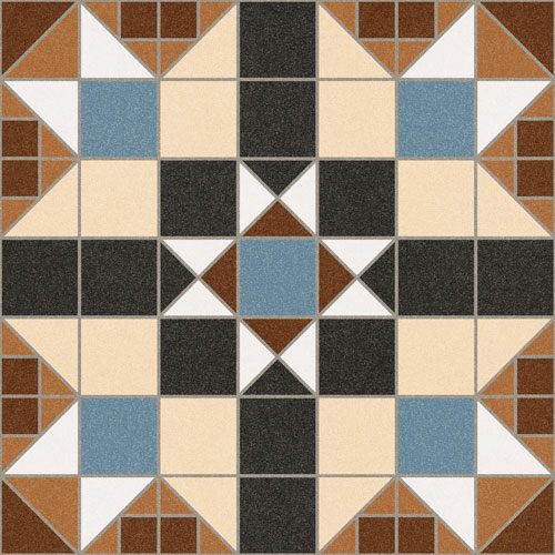 Ceramic floor tile Dorset Marron