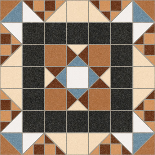 Ceramic floor tile Halton Marron