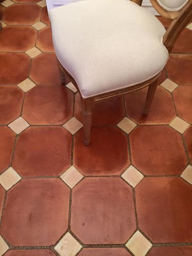 Octagon Terracotta floor tile 20 x 20 cm